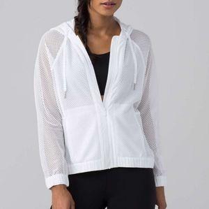 Lululemon white mesh jacket M